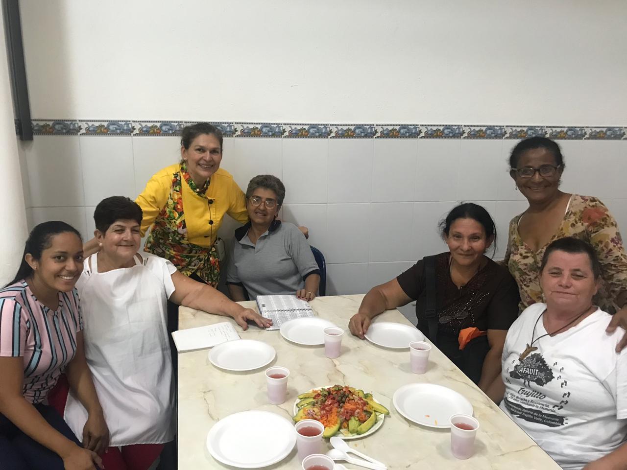 Nuestras organizaciones sociales tuvieron un taller de comida saludable