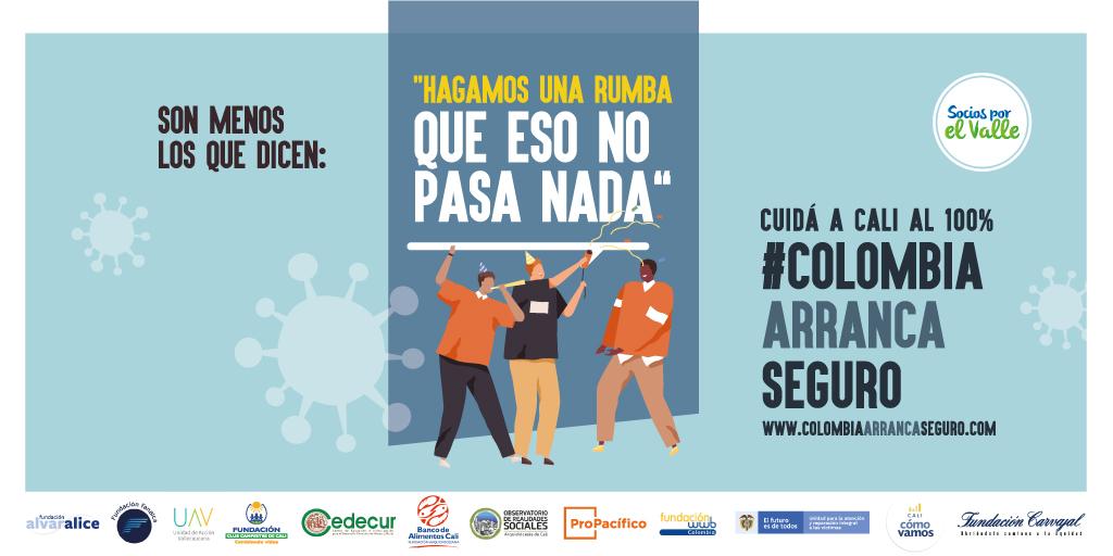 Organizaciones en Cali buscan que la ciudadanía haga frente a la transmisión del COVID-19