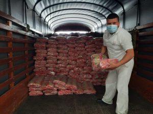 Recibimos donación de 7.986 kilos de pasta para ayudar en la crisis alimentaria
